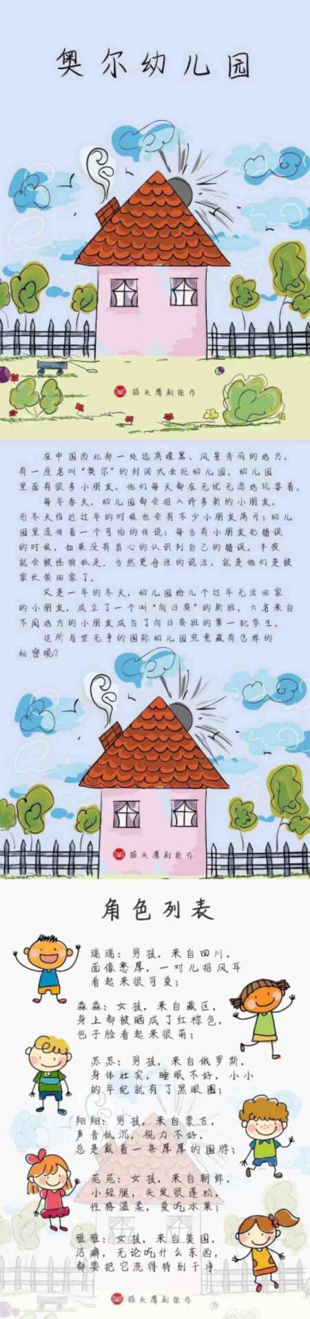 奥尔幼儿园海报图